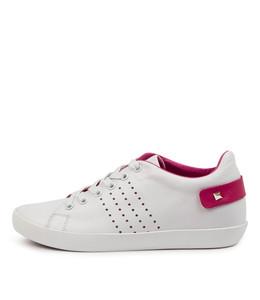 EISLEY Sneakers in White/ Fuchsia Leather