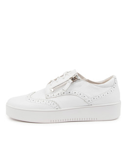 LEON Sneakers in White Leather
