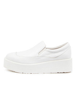 STORMY Platforms in White Leather