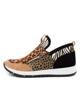 JASIEL Sneakers in Sand Multi Leather