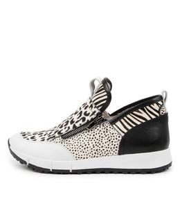 JASIEL Sneakers in White/ Multi Leather