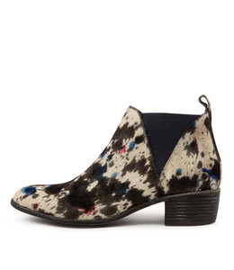 JERIKO Boots in Blue Mix Pony Hair