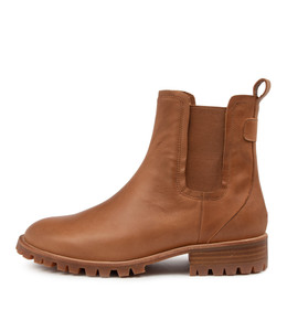 MURRAY Ankle Boots in Tan Leather