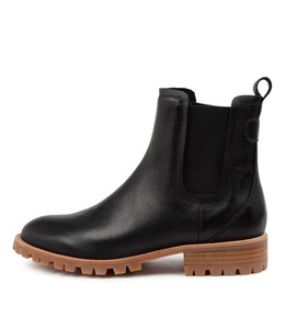 MURRAY Ankle Boots in Black Leather