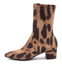 AUSTON Boots in Leopard Stretch