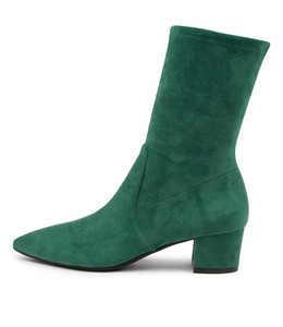 AUSTON Boots in Emerald Stretch