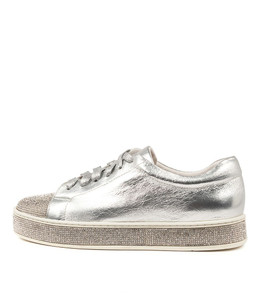 PURITY Sneakers in Silver Leather/ Silver Jewels