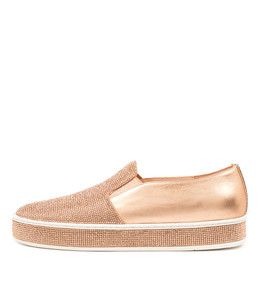 PRINCESS Sneakers in Rose Gold Leather/ Rose Gold Jewels