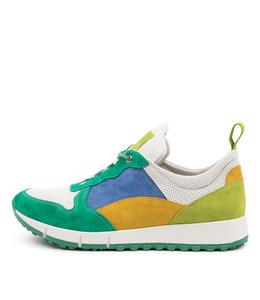 JOYA Sneakers in Emerald/ Multi Leather