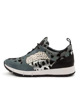 JOYA Sneakers in Denim/ Multi Leather