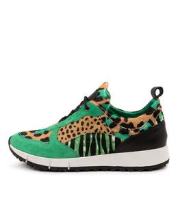 JOYA Sneakers in Emerald / Multi Leather