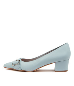 ALLO Mid Heels in Blue Leather