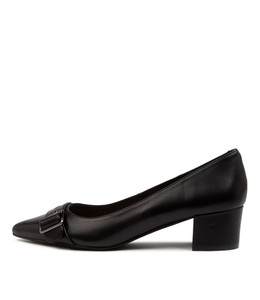 ALLO Mid Heels in Black Leather