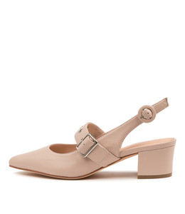 AZZI Mid Heels in Nude Leather