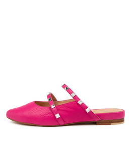 FOCALS Flats in Fuchsia Leather