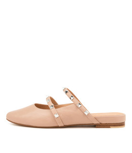 FOCALS Flats in Rose Leather