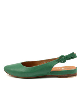 FAIRY Flats in Emerald Green Leather