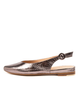 FAIRY Flats in Pewter Leather