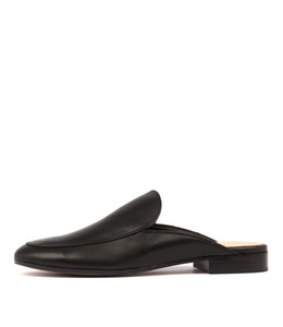 LEVON Mules in Black Leather