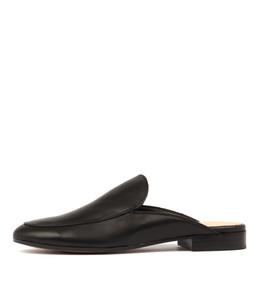 LEVON Mules in Black Leather