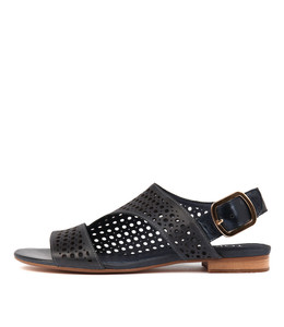 POSSESSED Sandals in Navy Leather