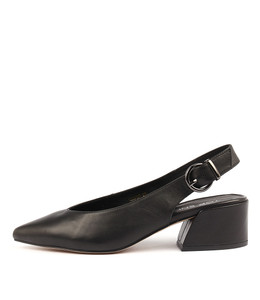 ORMOND High Heels in Black Leather