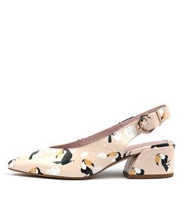 ORMOND High Heels in Pink Bird Print Leather