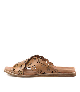 HIBISCUS Sandals in Tan Leather