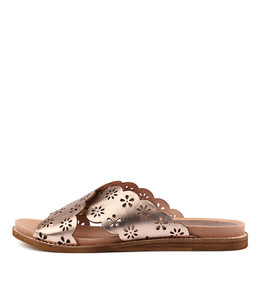 HIBISCUS Sandals in Rose Gold Leather