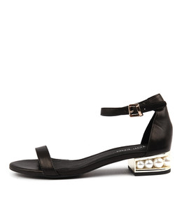 PERHAPS Sandals in Black Leather