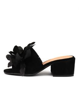 FLYING Heeled Sandals in Black Suede