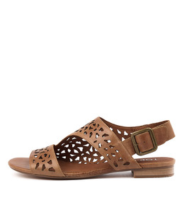 POSSESS Sandals in Tan Leather
