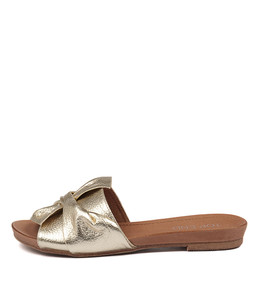 CAND Sandals in Pale Gold Leather