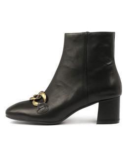 RANCE Ankle Boots in Black Leather