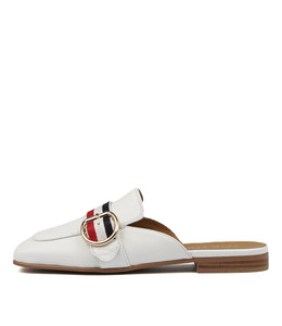 SWEETLESS Mules in White Leather