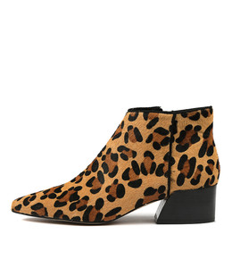 ORENE Ankle Boots in Dark Ocelot Pony Hair