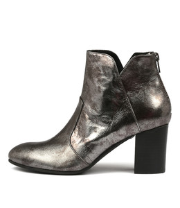 UPCLIMB Ankle Boots in Pewter Leather