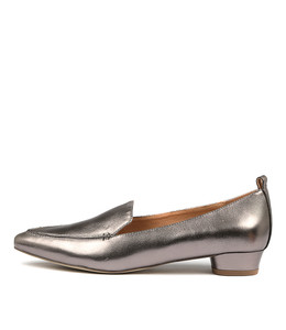 SHANA Flats in Pewter Leather