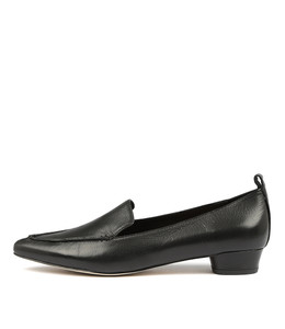 SHANA Flats in Black Leather