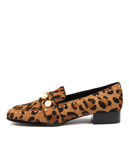 MADIE Flats in Dark Ocelot Pony Hair