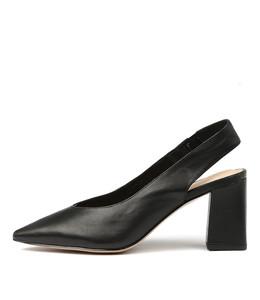 ROYCE High Heels in Black Leather
