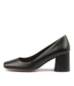 GAIGE Mid Heels in Black Leather