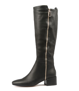 HADEN Knee High Boots in Black Leather