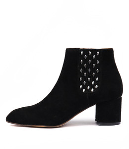 TAINA Ankle Boots in Black Suede