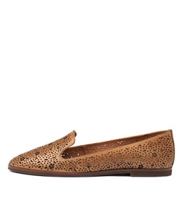 REVEAL Flats in Tan Leather
