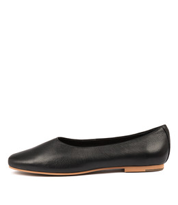 ADRON Flats in Black Leather