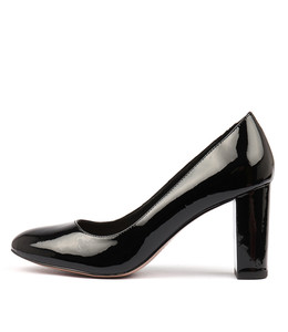 MONACO High Heels in Black Patent Leather