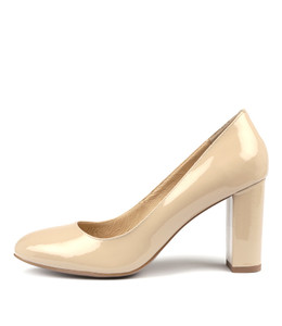 MONACO High Heels in Nude Patent Leather