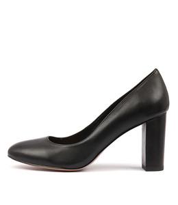 MONACO High Heels in Black Leather
