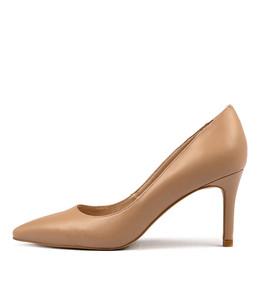BARRIOS High Heels in Dark Nude Leather